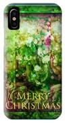 Old Fashioned Merry Christmas - Roses And Babys Breath - Holiday And Christmas Card IPhone Case