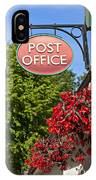 Old Fashioned Post Office Sign IPhone Case