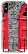 Old Fire Hall Doors IPhone Case