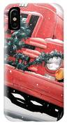 Old Firetruck At Christmas IPhone Case