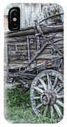 Old Freight Wagon - Montana Territory IPhone Case