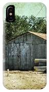 Old Garage And Car In Seligman IPhone Case