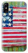 Old Glory In Wood Impression IPhone Case