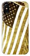 Old Glory Sepia Rustic IPhone Case