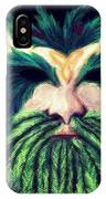 Old Green Man Winter IPhone Case