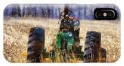 Old Green Tractor On The Farm IPhone Case