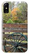 Old Green Wagon Wheel IPhone Case