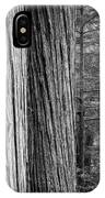 Old Growth Cedars Glacier National Park Bw IPhone Case
