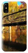 Historic Harvey Bridge Over Manistee River In Wexford County Michigan IPhone Case