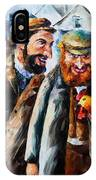 Old Jews And A Rooster  IPhone Case