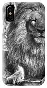 Old King In Black And White IPhone Case