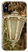 Old Lamp Hanging On Tree  IPhone Case