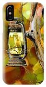 Old Lantern In Camo IPhone Case