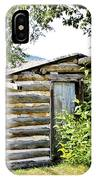 Old Log Homestead IIi IPhone Case