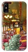 Old Lounge Car From Early Railroading Days IPhone Case