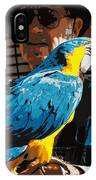 Old Man And His Bird IPhone Case