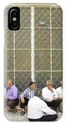 Old Men Socializing In Yazd Iran IPhone Case