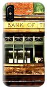 Old National Bank Of Thurmond IPhone Case