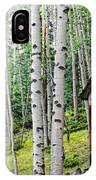 Old Outhouse Among Aspens IPhone Case