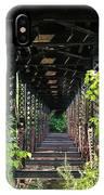 Old Railroad Car Bridge IPhone Case