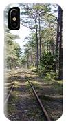 Old Railroad Tracks IPhone Case