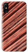 Old Red Wooden Wall In Sunlight IPhone Case