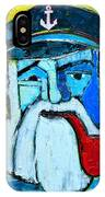 Old Sailor With Pipe Expressionist Portrait IPhone Case