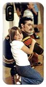 Old School Roller Derby Skater And His Number One Fan IPhone Case
