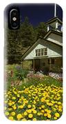 Old Schoolhouse And Garden. IPhone Case