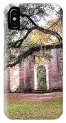 Old Sheldon Church - Bending Oak IPhone Case