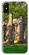 Old Sheldon Church Ruins In South Carolina IPhone Case