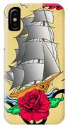 Old Ship Tattoo  IPhone Case