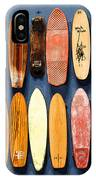 Old Skateboards On Display IPhone Case