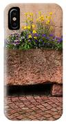 Old Stone Trough And Flowers In Alsace France IPhone Case