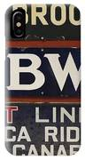 Old Subway Signs IPhone Case