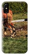 Old Time Horse Plowing IPhone Case