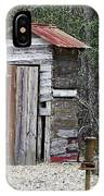 Old Time Outhouse And Pitcher Pump IPhone Case