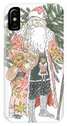 Old Time Santa With Teddy IPhone Case