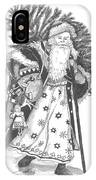 Old Time Santa With Violin IPhone Case