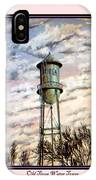 Old Tioga Water Tower Print IPhone Case