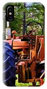 Old Tractor Digital Paint IPhone Case