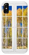 Old Triple16 Pane White Window Colorful Autumn Aspen Forest View IPhone Case
