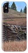 Old Turn Of The Century Log Cabin Homestead Art Prints IPhone Case