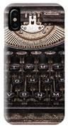Old Typewriter IPhone Case