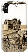 Old Wagon And Homestead II IPhone Case