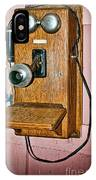 Old Wall Telephone IPhone Case