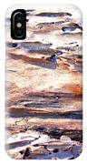 Old Weathered Log On The Sea Shore IPhone Case