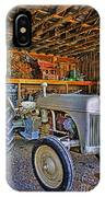 Old White Ford Tractor IPhone Case