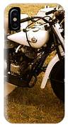 Old White Motorcycle IPhone Case