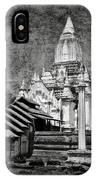 Old Whitewashed Lemyethna Temple Bw IPhone Case
